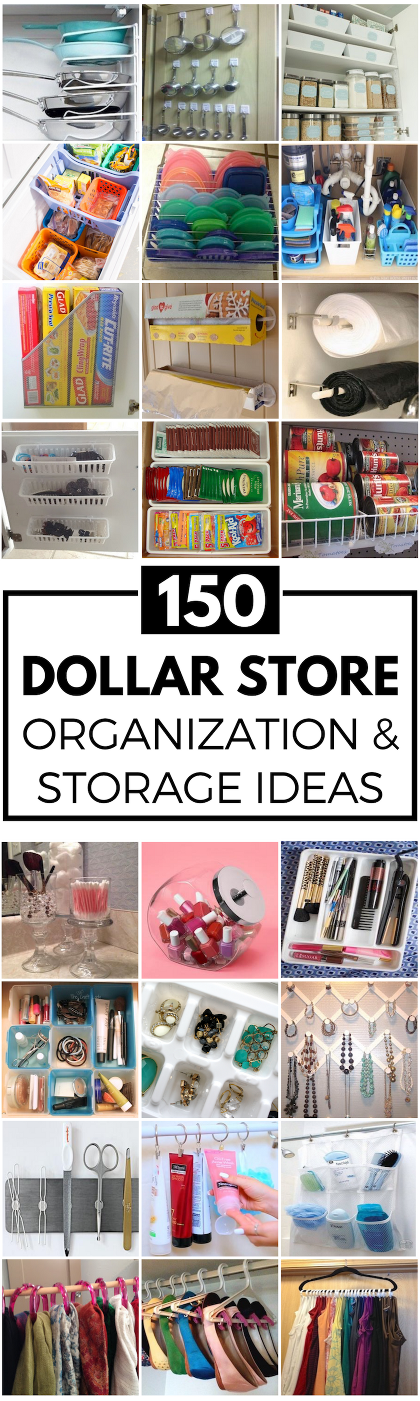 Organize For Less With These Creative Dollar Store Organization And Storage Ideas There Are Every Room In Your House Kitchen Bathroom Laundry