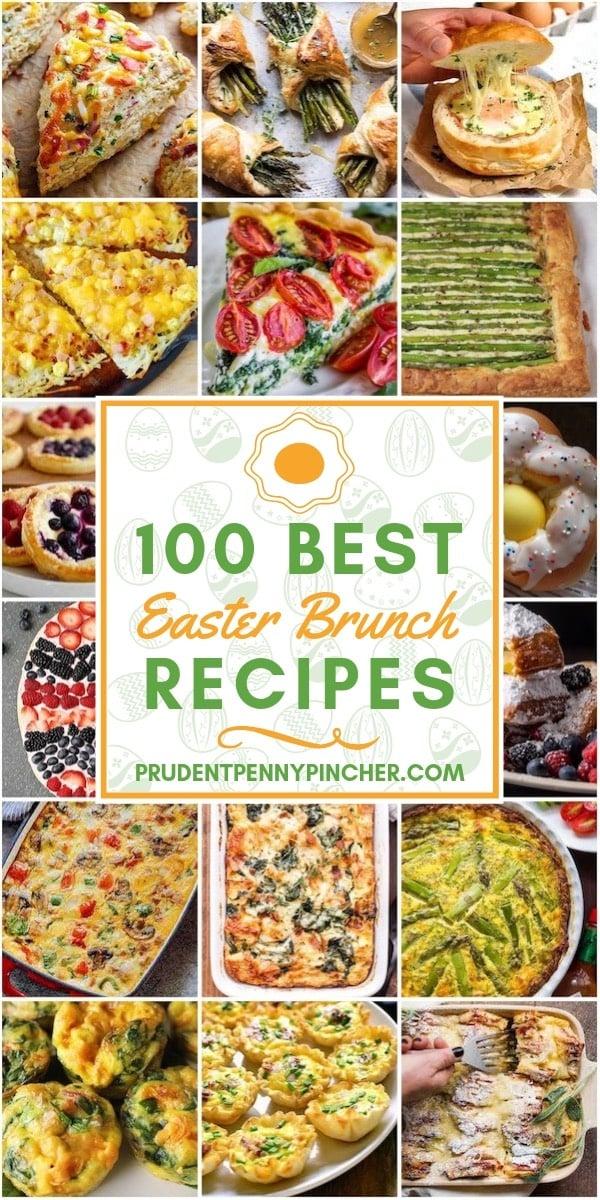 100 Best Easter Brunch Recipes #brunch #breakfast #recipes #easter