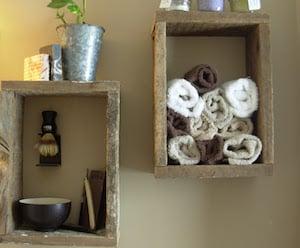 Rustic Shadow Box Shelves