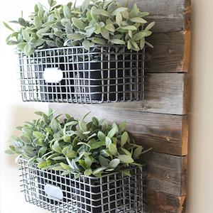 Hanging DIY Farmhouse Wire Basket Planter