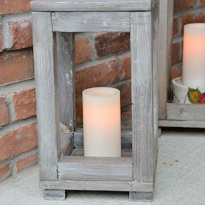 DIY Wood Farmhouse Lantern