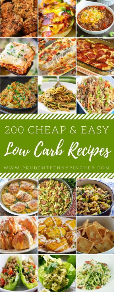 200 cheap easy low carb recipes prudent penny pincher. Black Bedroom Furniture Sets. Home Design Ideas