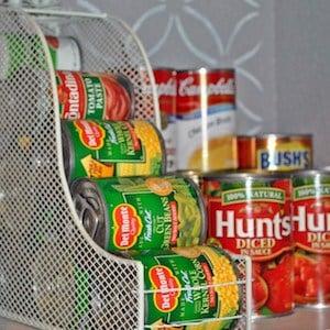canned food magazine rack pantry organizer