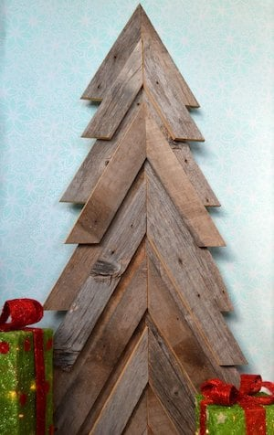 rustic pallet christmas tree wood board brad nails wood glue pallet wood