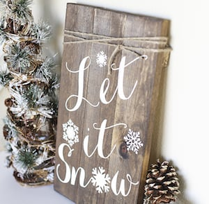 rustic christmas wall art