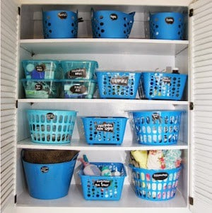 Closet Makeover Bins + Totes + Baskets
