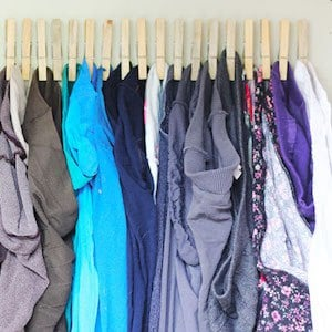 clothespin Tights and panty hose Organizer