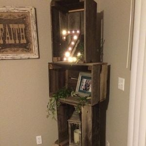 Superieur Storage U0026 Organization Rustic Home Decor Ideas. Rustic Crate Corner Shelf  Unit (Source Unknown) Wood Crates + Wood Stain