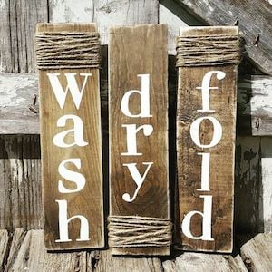 Rustic Laundry Wall Signs