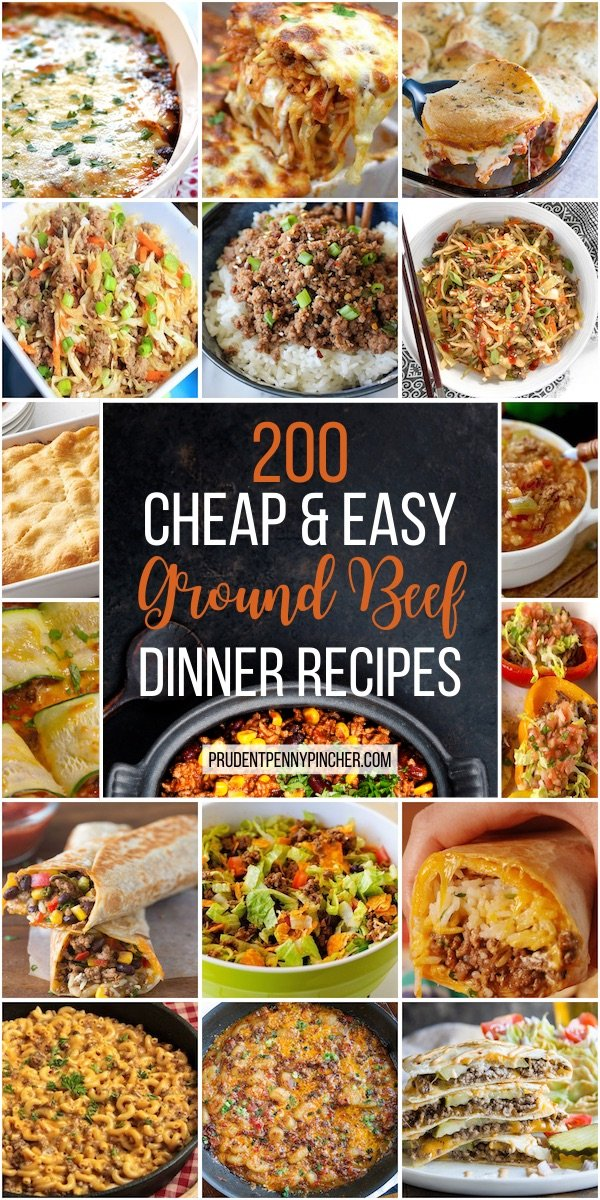 200 Cheap And Easy Ground Beef Dinner Recipes Prudent Penny Pincher