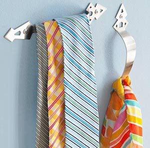 Drawer pull Tie Holder