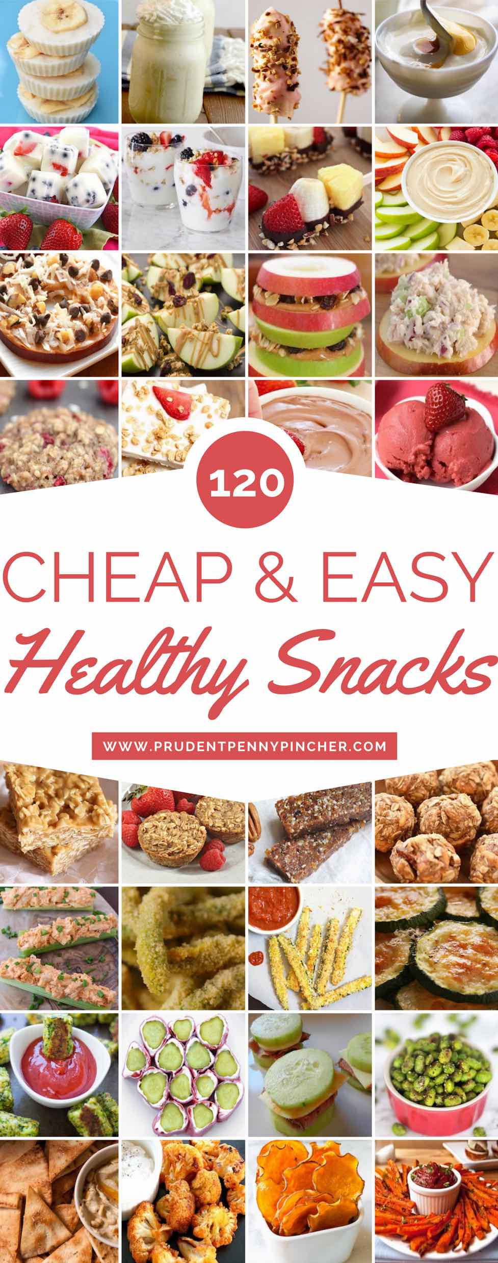 120 Cheap and Healthy Snacks