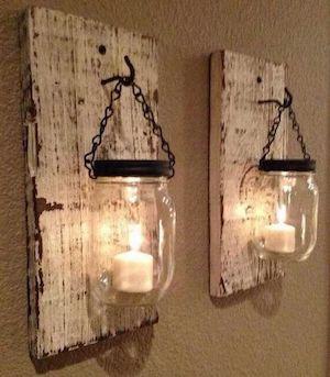 Wood Plank Mason Jar Candle Scones