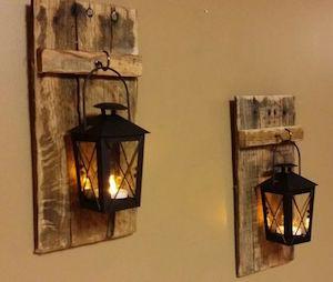 Wood Pallet Lantern Hanger