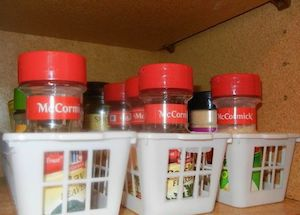 Spice Organizer for pantry cabinets