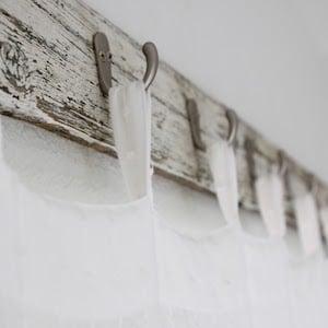 DIY Farmhouse Style Shower Curtains