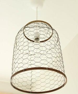 Chicken Wire DIY Farmhouse Light