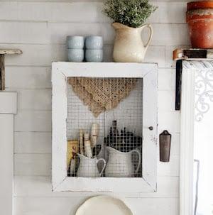 Primitive Farmhouse Wall Cabinet