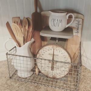 Farmhouse Kitchen Wire Basket Organizer