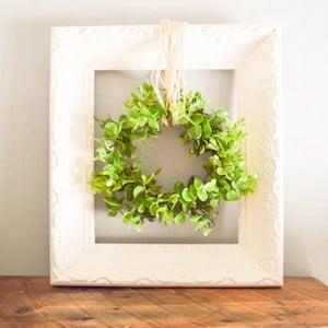 Upcycled Frame with Farmhouse Wreath