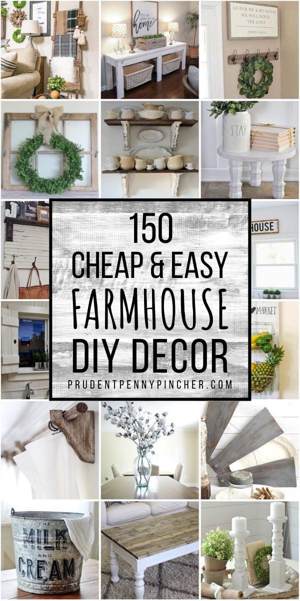 150 Cheap And Easy Diy Farmhouse Decor Ideas Prudent Penny Pincher