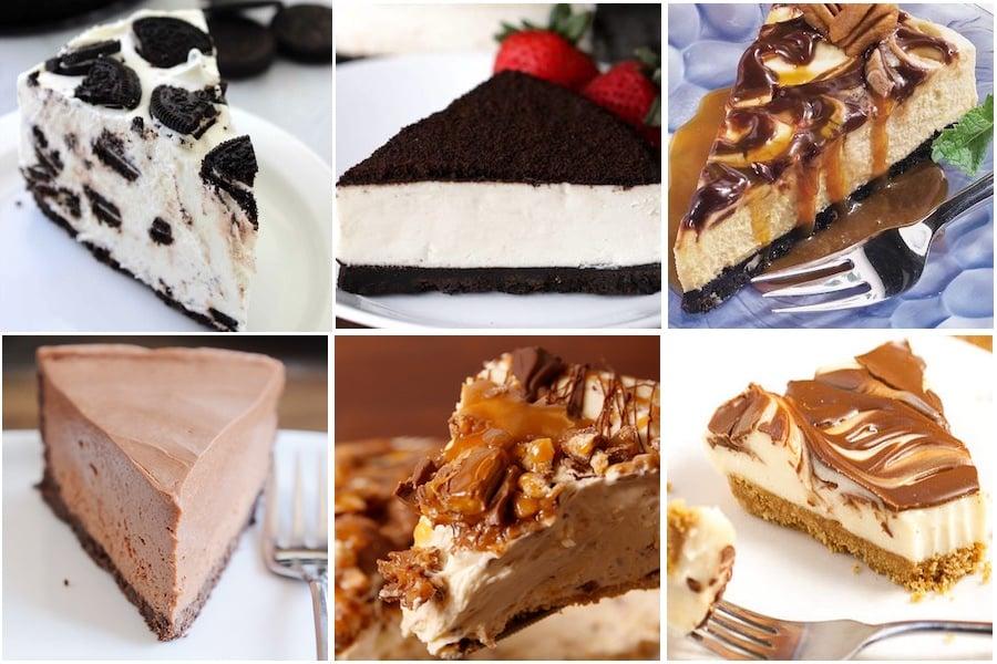 No Bake Chocolate Cheesecakes
