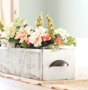 Farmhouse Wooden Box Centerpiece
