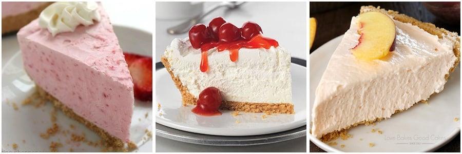 No Bake Fruit Cheesecakes