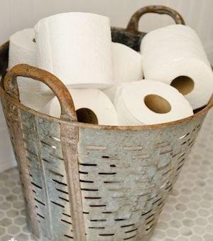 Olive Basket Toilet Paper Holder