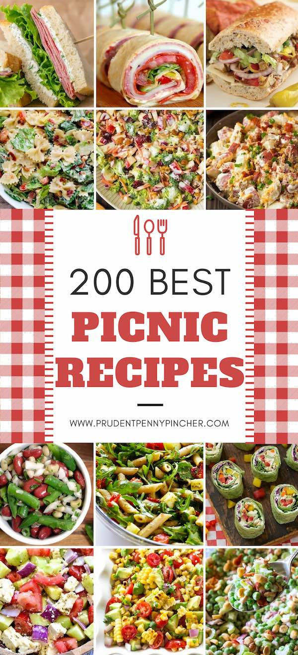 200 best picnic recipes prudent penny pincher looking for easy and refreshing picnic food ideas then try these delicious sandwiches appetizers salads desserts drinks and more on your next picnic forumfinder Choice Image