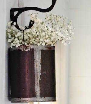 Repurposed Paint Can Flower Holder