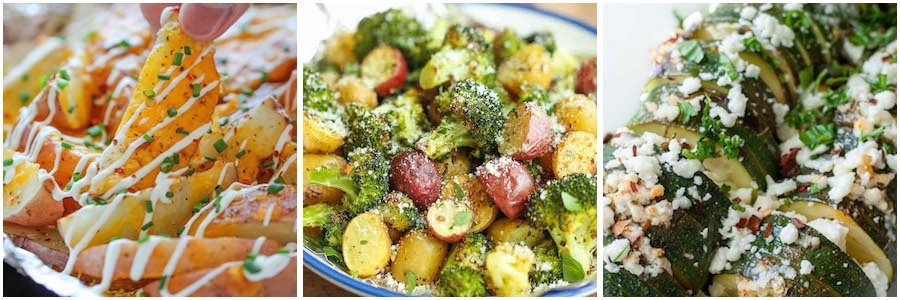 Side Dish Foil Pack Dinners for the Oven