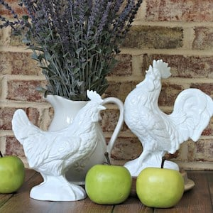 Thrift Store Rooster Makeover
