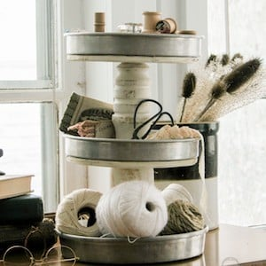 Repurposed Tiered Stand