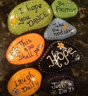 assorted quote rocks