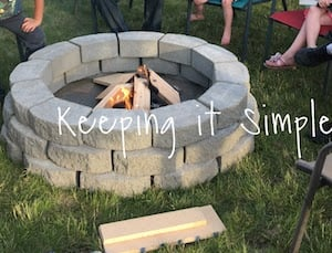 Captivating $60 DIY Fire Pit Gray Pavers + Square Pavers + Triangle Pavers + Paver Sand