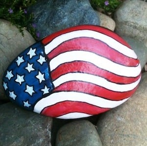 Patriotic Flag Rock