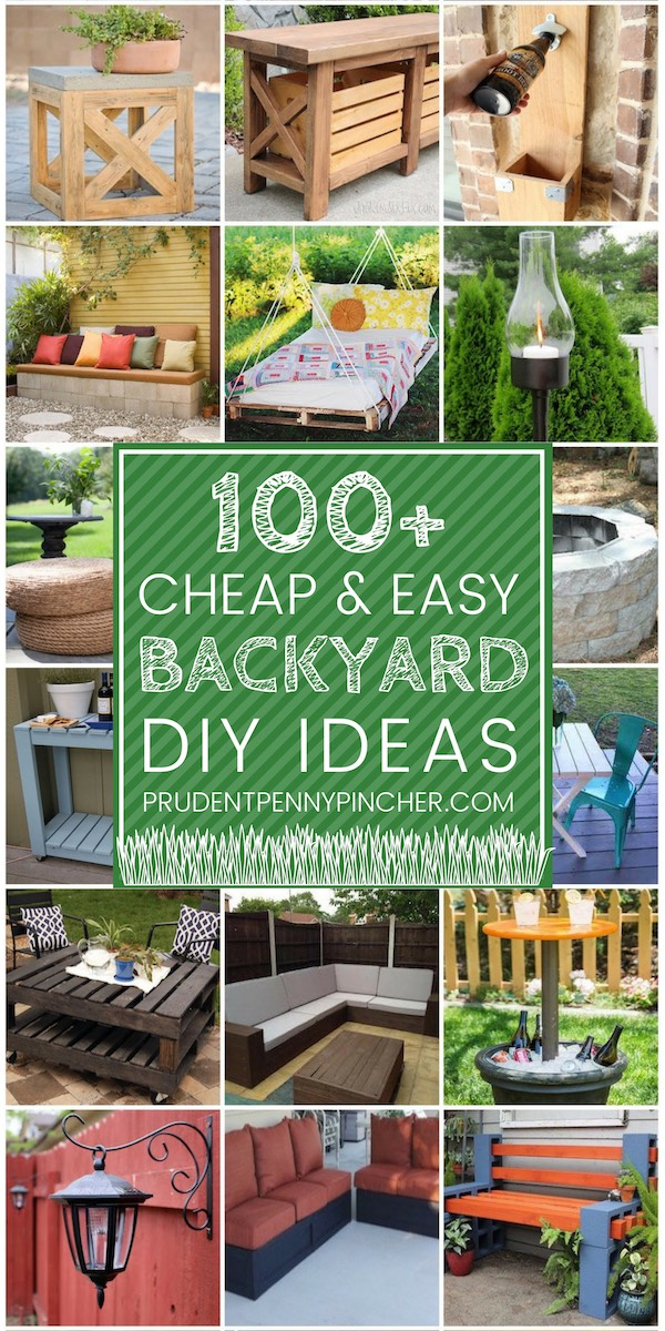 100 Cheap and Easy DIY Backyard Ideas - Prudent Penny Pincher on Affordable Backyard Ideas id=80719