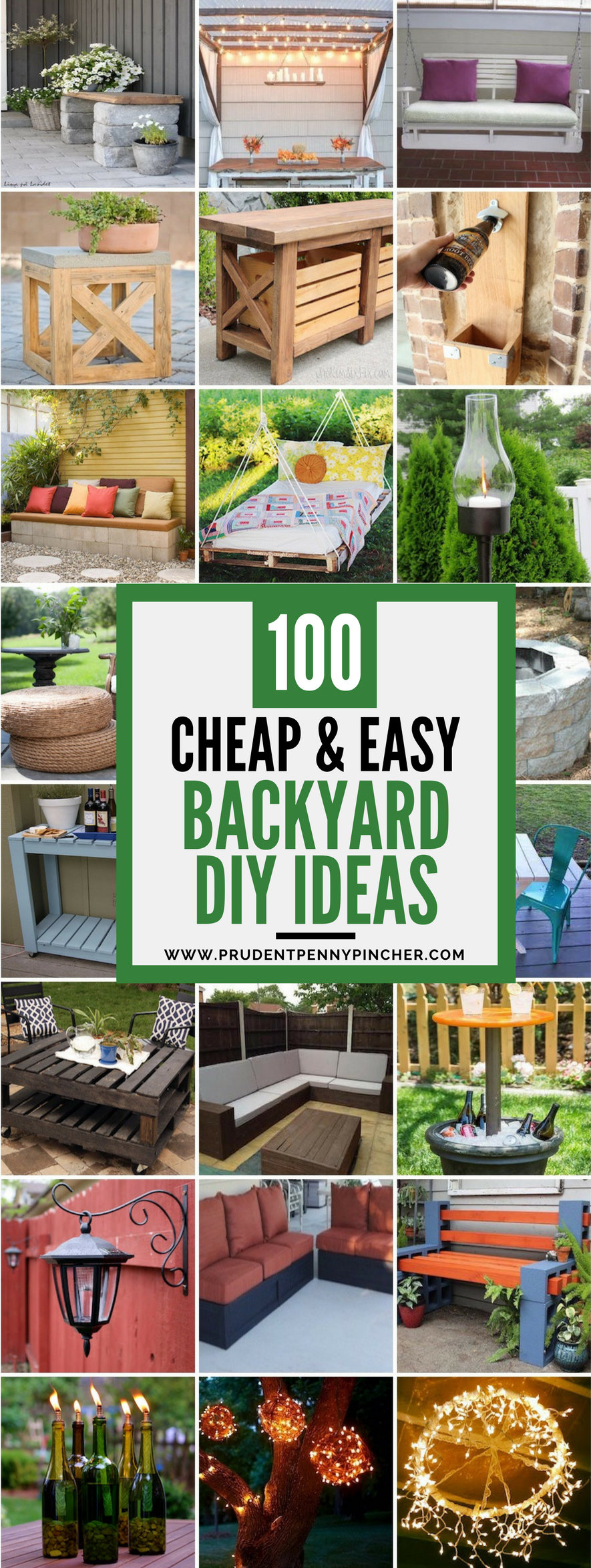 100 cheap and easy diy backyard ideas prudent penny pincher for Easy garden patio ideas