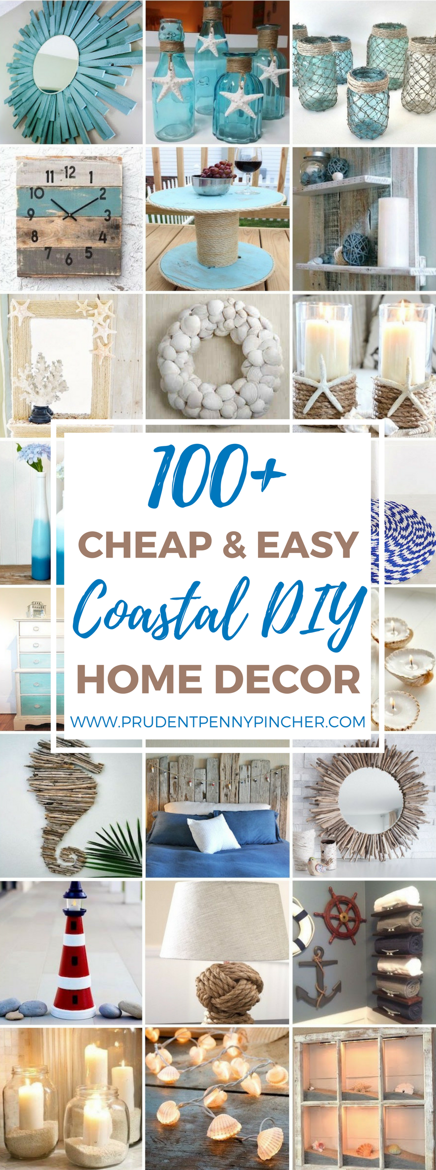 100 cheap and easy coastal diy home decor ideas prudent for Cheap home decor ideas