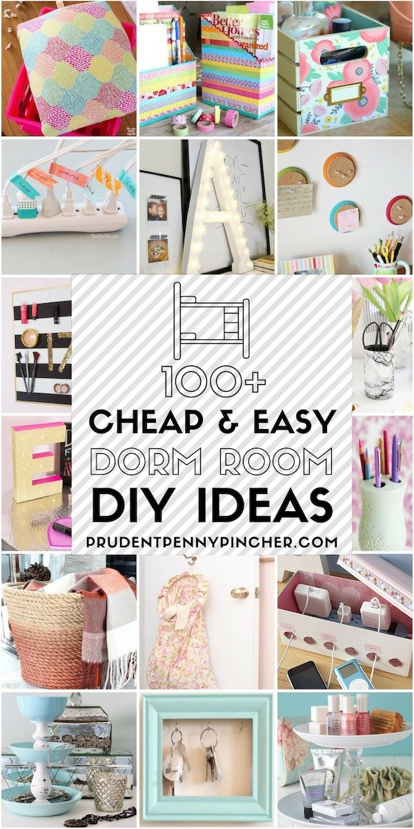 100 Cheap And Easy Dorm Room Diy Ideas Prudent Penny Pincher