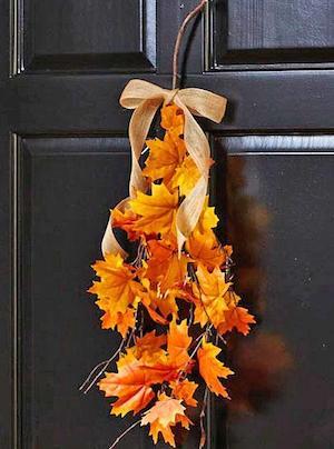 Autumn Leaves Tree Branch Door