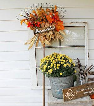 Harvest Rake Decoration