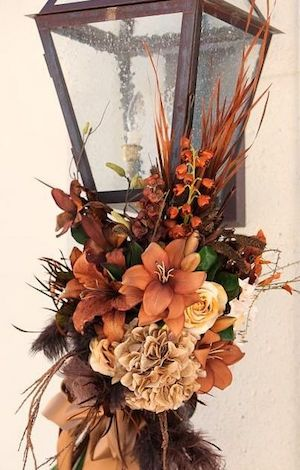 Fall Floral Lamp