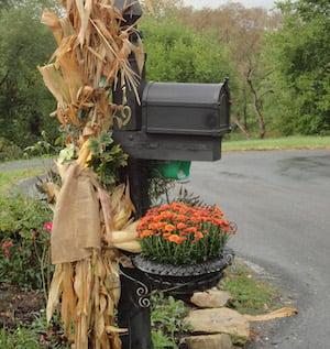 Corn Stalk Mailbox