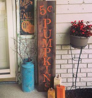 rustic pallet pumpkin sign