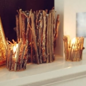 Rustic Stick Candle