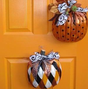 Pumpkin Halloween Door Decor