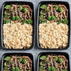 Beef and Broccoli meal prep recipe