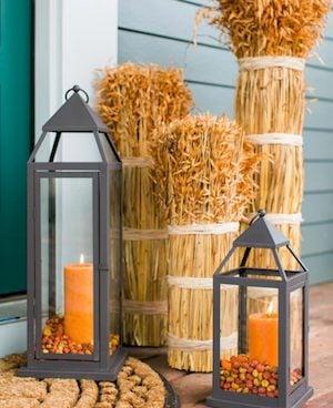 Wheat Bundles and Fall Lanterns